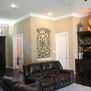 Elegant living room photo in Houston