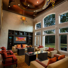 Contemporary Living Room by Jaque Bethke for PURE Design Environments Inc.