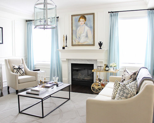 Taupe amp Grey Living Room Design Ideas Remodels Photos