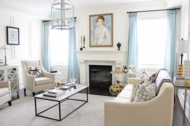 Transitional Living Room by AM Dolce Vita
