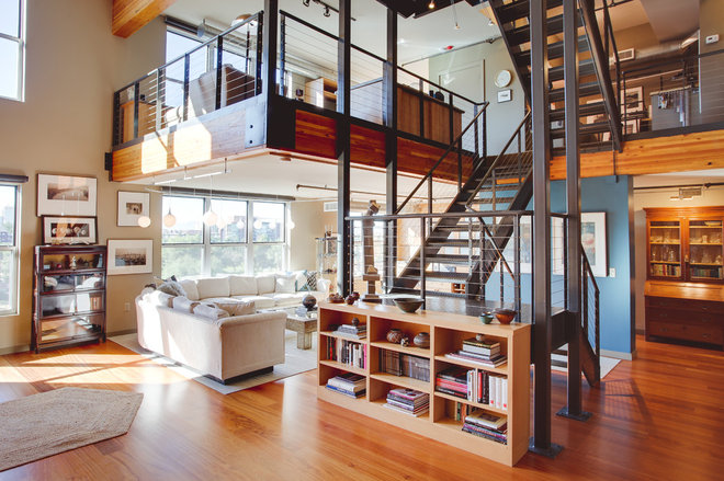 Industrial Living Room by Mackenzie Collier Interiors