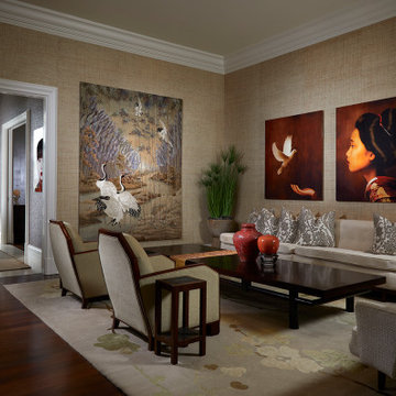 Artfully Curated In Palm Beach: Living Room
