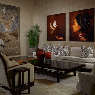 75 Beautiful Wallpaper Living Room Pictures Ideas February 2021 Houzz
