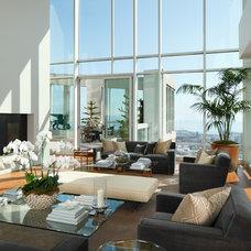 Contemporary Living Room by Arthur McLaughlin & Associates, Inc.
