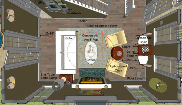 Key measurements for designing the perfect living room for Dining room 8 feet wide