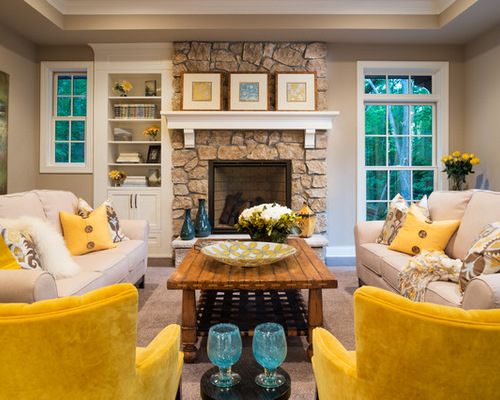 8 Yellow Accent Living Room Design Ideas Remodel Part 44