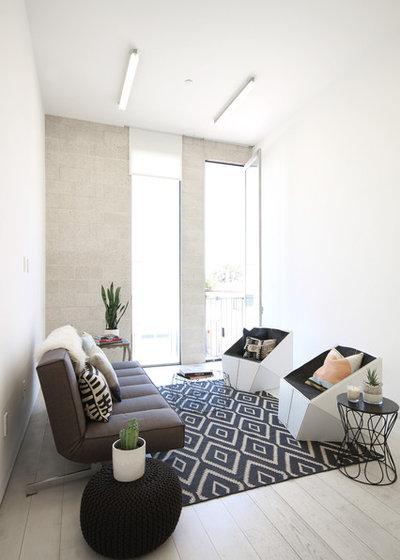 Scandinavian Living Room by John Milander Architects
