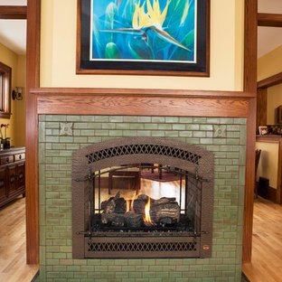 Arts & Crafts Living Room Fireplace