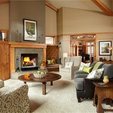 Craftsman Living Room by Susan E. Brown Interior Design