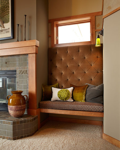 Craftsman Living Room by Susan E. Brown Interior Design