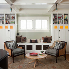 Eclectic Living Room by Copper Sky Renovations