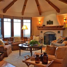 Traditional Living Room by Melanie Giolitti Interior Design