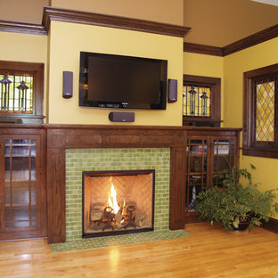 Arts & Crafts Tile Fireplace Showcase