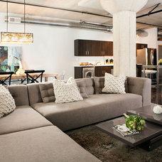 Industrial Living Room by Caitlin & Caitlin Design Co.