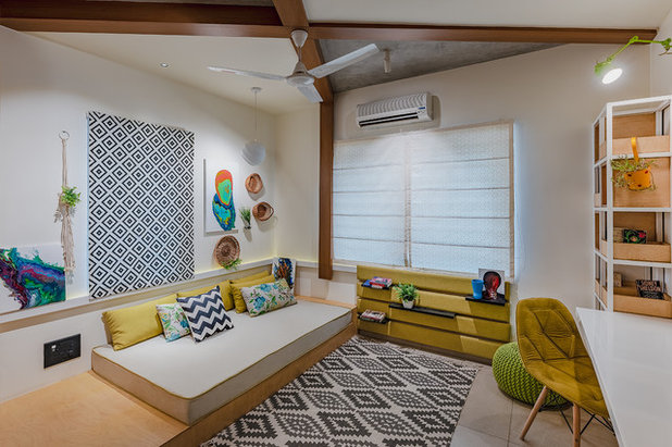 Asian Family Room by Design Box
