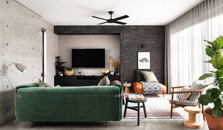 Room of the Week: A Contemporary, Mixed-Material Living Area