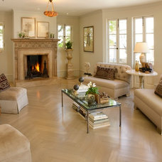 Traditional Living Room by Candace Barnes