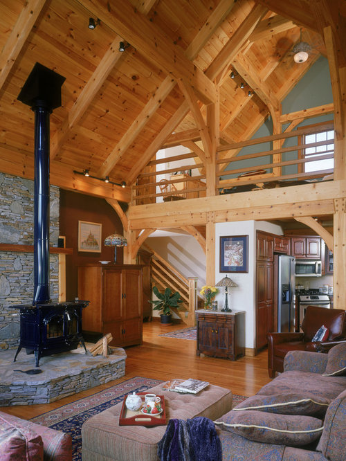 Craftsman Living Room Design Ideas, Remodels & Photos with a Wood ...