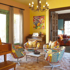 eclectic living room by Astleford Interiors, Inc.