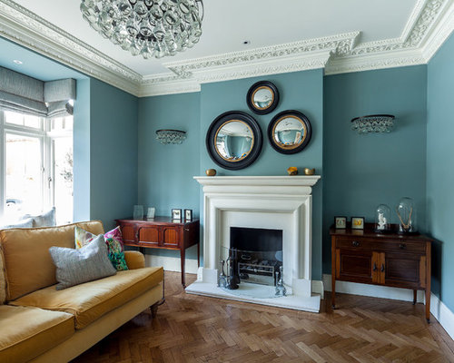 Victorian turquoise living room design ideas remodels photos houzz Victorian living room decorating ideas with pics