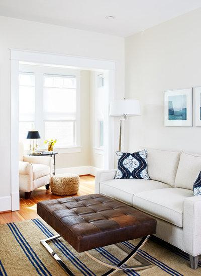 Transitional Living Room by WINN Design+Build