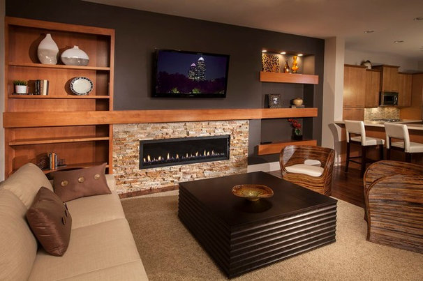 Contemporary Living Room by Ashton Woods