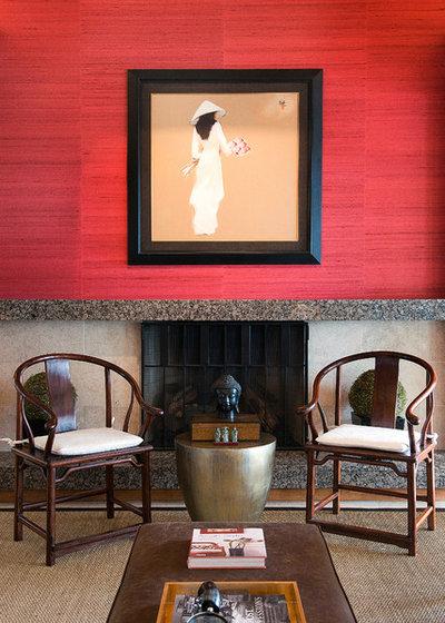 Asiatique Salon by Troy Spurlin Interiors