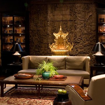 Asian Influenced Living Room
