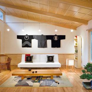 Living room photo in Boston