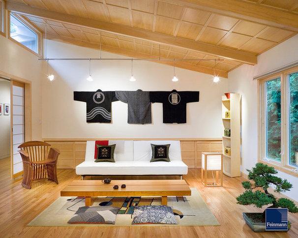 Asian Living Room by Feinmann, Inc.