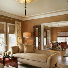 Eclectic Living Room by Lori Levine Interiors, Inc.