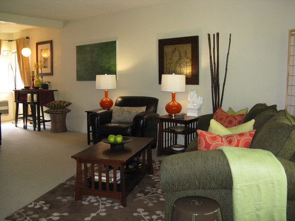 Asian Living Room by Madison Modern Home