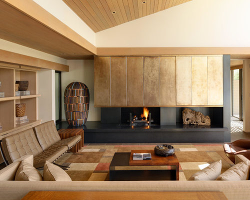 Small Zen Formal And Open Concept Living Room Photo In San Diego With White  Walls,
