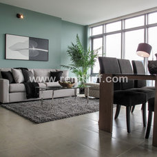 Asian Living Room by Flüff Designs & Decor