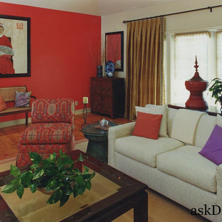 Inspiration for an asian living room remodel in Orange County