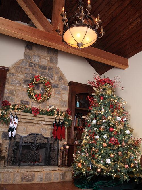 Aspen Fir Rustic Christmas Tree In Living Room