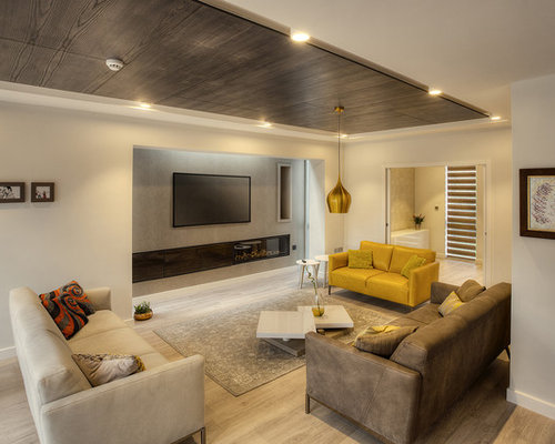 This Is An Example Of A Medium Sized Contemporary And Modern Formal  Enclosed Living Room In