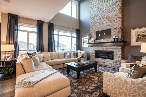 Transitional Living Room by WestView Builders
