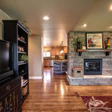 Traditional Living Room by CapStone Home Renovations