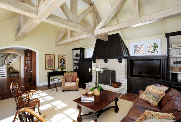 Traditional Living Room by Markay Johnson Construction
