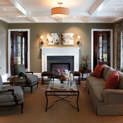 contemporary living room by Markay Johnson Construction