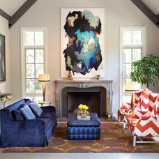 Transitional Living Room by Michelle Workman Interiors