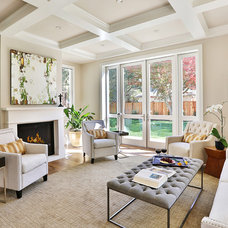 Transitional Living Room by Clarum Homes