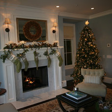traditional living room Atherton Holiday House Tour
