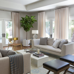 Example of an island style formal and enclosed living room design in San Francisco