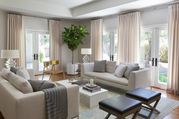Tropical Living Room by Mead Quin Design