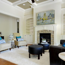 Contemporary Living Room by Pat Shankle