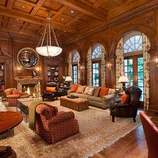 Mediterranean Living Room by Plath & Company
