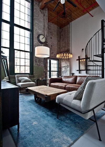 Industrial Living Room by Heirloom Design Build
