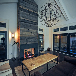 Example of a mid-sized country living room design in Atlanta